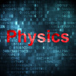Education concept: Physics on digital background — Stok fotoğraf