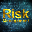 Business concept: Risk Management on digital background — Stock Photo
