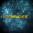 Education concept: Mathematics on digital background — Stock Photo