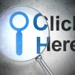 Web development concept: Search and Click Here — Stock Photo