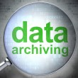 Data concept: Data Archiving with optical glass — Stock Photo