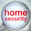 Privacy concept: Home Security with optical glass — Stock Photo