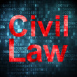 Law concept: Civil Law on digital background — Stock Photo