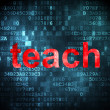 图库照片: Education concept: Teach on digital background