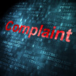Law concept: Complaint on digital background — Stock Photo