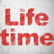 Time concept: Life Time on wall background — Stok fotoğraf