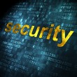 Safety concept: Security on digital background — Foto Stock