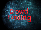 Finance concept: Crowd Funding on digital background — Zdjęcie stockowe