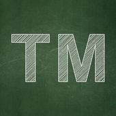 Law concept: Trademark on chalkboard background — Stock Photo