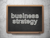 Finance concept: Business Strategy on chalkboard background — Stockfoto