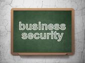 Security concept: Business Security on chalkboard background — Foto Stock