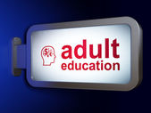 Education concept: Adult Education and Head Finance Symbol — Foto de Stock