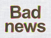 News concept: Bad News on fabric texture background — Stock Photo