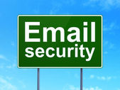Privacy concept: Email Security on road sign background — Stock Photo