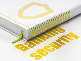Protection concept: book with Contoured Shield, Banking Security — Stock Photo