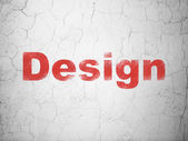 Advertising concept: Design on wall background — Foto Stock