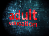 Education concept: Adult Education on digital background — ストック写真