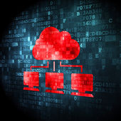 Cloud computing concept: Cloud Network on digital background — Photo