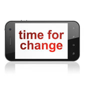 Conceito de linha do tempo: tempo de mudança em smartphone — Fotografia Stock