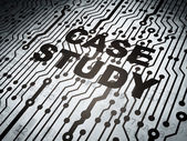 Education concept: circuit board with Case Study — Foto Stock