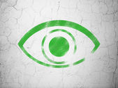 Protection concept: Eye on wall background — Stock Photo