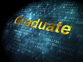 Education concept: Graduate on digital background — Stockfoto