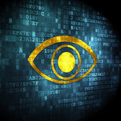 Protection concept: Eye on digital background — Stock Photo