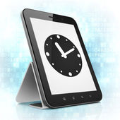 Time concept: Clock on tablet pc computer — Fotografia Stock