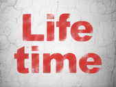 Time concept: Life Time on wall background — Stock Photo