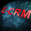 Stock Photo: Business concept: E-CRM on digital background