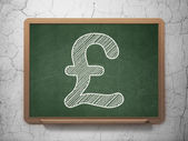 Currency concept: Pound on chalkboard background — Stock Photo