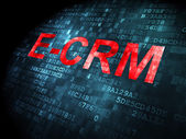 Business concept: E-CRM on digital background — Stock Photo