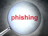 Protection concept: Phishing with optical glass — Stockfoto