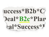 Business concept: B2c on Paper background — Stock Photo