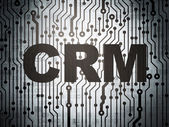 Business concept: circuit board with CRM — Stock Photo
