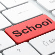 Education concept: School on computer keyboard background — Stock Photo