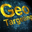 Stock Photo: Business concept: Geo Targeting on digital background