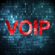 SEO web development concept: VOIP on digital background — Stock Photo
