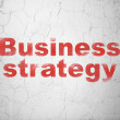 Stock Photo: Business concept: Business Strategy on wall background