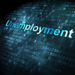 Business concept: Unemployment on digital background — Foto Stock