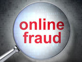 Security concept: Online Fraud with optical glass — Stockfoto