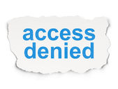 Safety concept: Access Denied on Paper background — Stock Photo