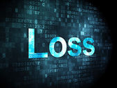 Finance concept: Loss on digital background — 图库照片