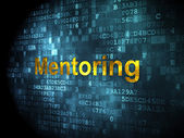 Education concept: Mentoring on digital background — Stock Photo