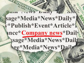 News concept: Company News on Money background — Stock Photo