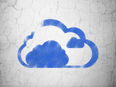 Cloud networking concept: Cloud on wall background — Stockfoto