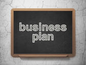 Business concept: Business Plan on chalkboard background — Stock Photo