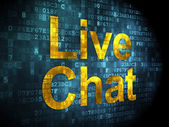 SEO web development concept: Live Chat on digital background — 图库照片