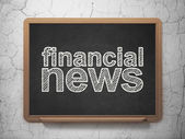 News concept: Financial News on chalkboard background — Stock Photo