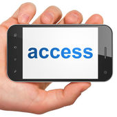 Privacy concept: Access on smartphone — Stock Photo